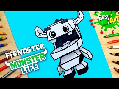 DIBUJOS MOSTER LIFE│Cómo Dibujar a fiendster│How to draw fiendster