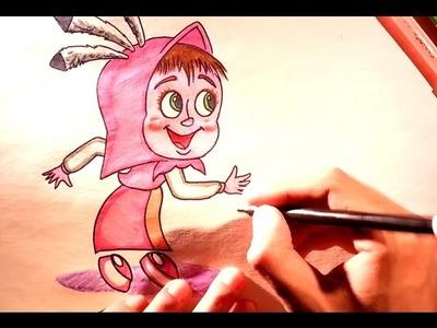 Dibujos para Colorear - Dibujos animados para pintar Masha and the bear [HD]