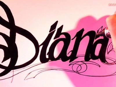 Dibujos para Colorear y Pintar - Letras para Tatuajes de Mujeres [HD]