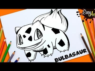 DIBUJOS POKEMON GO│Cómo Dibujar a Bulbasaur│How to draw Bulbasaur