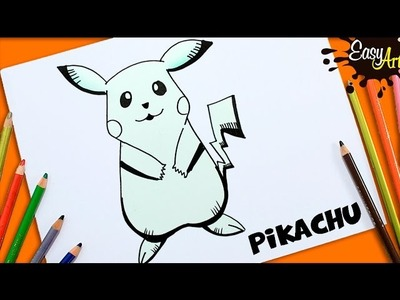DIBUJOS POKEMON GO│Cómo Dibujar a Pikachur│How to draw Pikachur