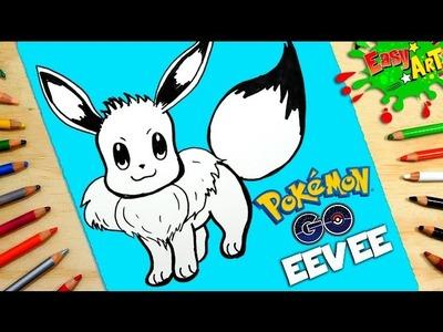 DIBUJOS POKEMON GO│Cómo Dibujar a Eevee│How to draw Eevee