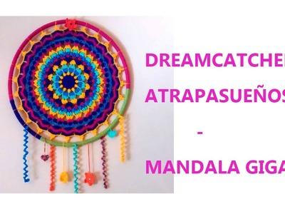 Atrapasueños Crochet - Mandala gigante (Dreamcatcher big mandala) PARTE 2