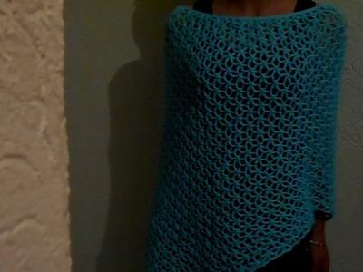 Capa en crochet punto fantasía. descubre como luce