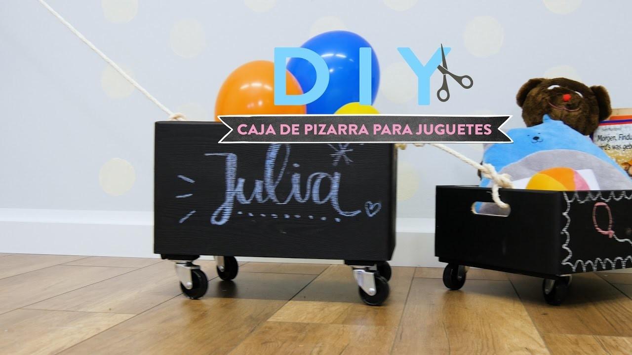 Cómo hacer una caja de pizarra para guardar juguetes  | DIY Westwing