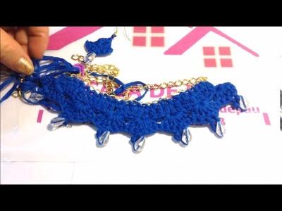 Collar tejido a Crochet, muy fácil