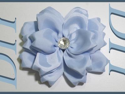 Como Hacer Lazos DIY #43 Flor Grande de 16 Pétalos