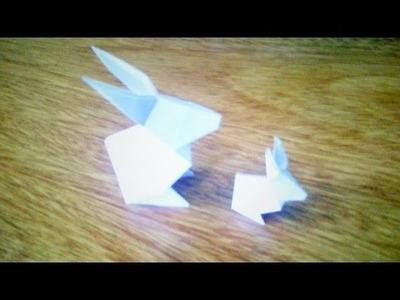 Como hacer un conejo de papel - Origami