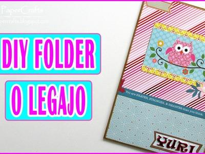 Cómo hacer un folder o legajo A5 | DIY Carpeta con bolsilos | Tutorial Scrap Luisa PaperCrafts