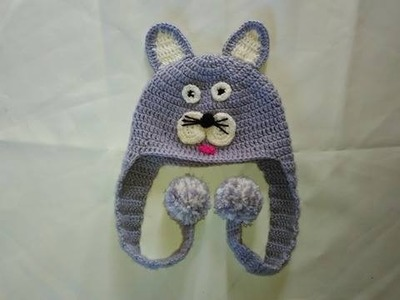 Como Hacer un Gorro Motivo Gatico En Crochet