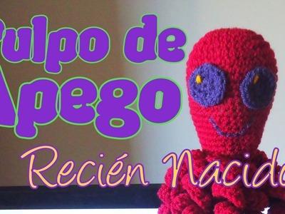 Crochet - Pulpo de apego para recién nacidos (octopus new born) 2° parte -tejido para zurdos-