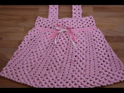 Crochet Vestidos para Niñas paso a paso