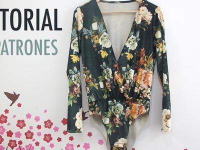 DIY Costura: Body de terciopelo (patrones gratis)