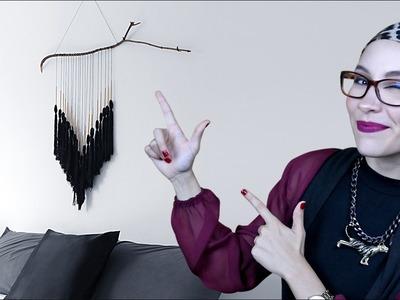 DIY Decora tu casa: Tutorial hanger con mechones estilo bohemio