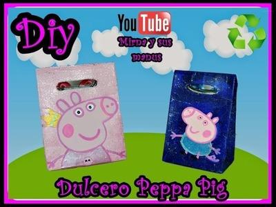 Diy. Dulcero Peppa Pig Mirna y sus manus. Diy  Peppa Pig Candy Box