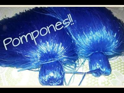 DIY Pompones de rafia!!