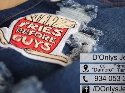 DIY: Transforma tus shorts jeans con parches ❤️ Hecho en Gamarra