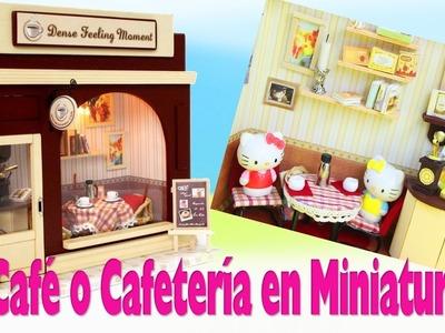 ????DIY Tutorial de Café o Cafetería en Miniatura Paso a Paso- 5 minutos - manualidadesconninos