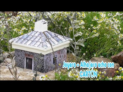 Joyero   Alhajero en Miniatura, hecho con Cartón, DIY