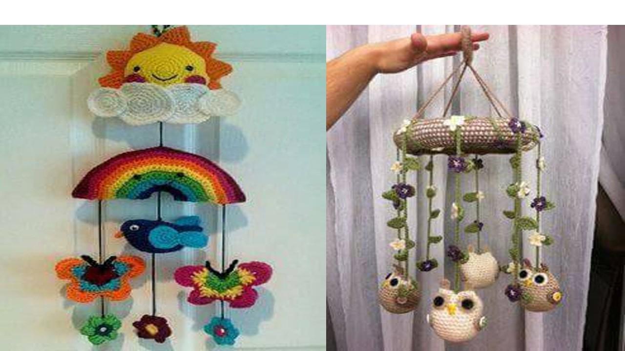 Movil tejido en crochet para bebe tecnica amigurumi - Movil para cuna bebe ...
