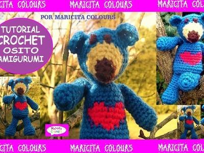 Osito a Crochet Valentino Tutorial por Maricita Colours