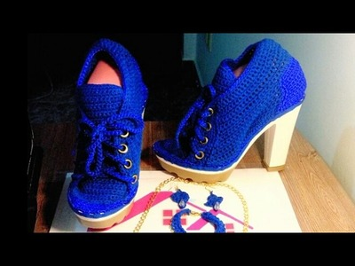 Tenis para fiesta, Boda, XV tejidos a crochet  Zapatos tejidos a crochet