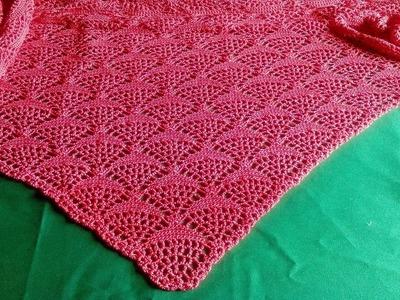 Chal de crochet, tutorial completo