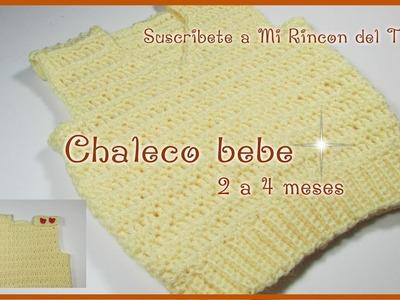 Chaleco bebe a crochet fácil y rápido - Mi rincón del tejido
