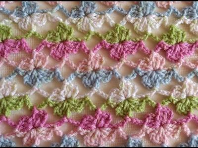 Como hacer Flor de te - Flor en crochet punto fantasia
