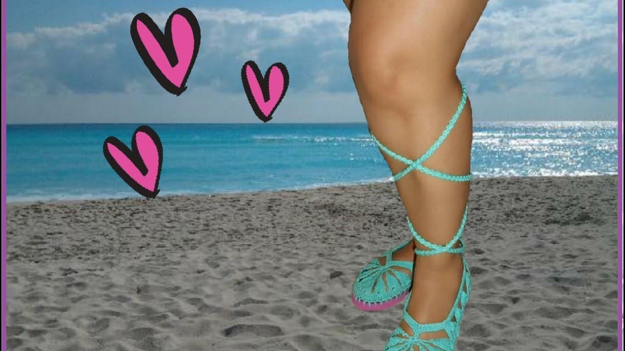 Como hacer zapatos con suela de sandalia en crochet facil y rapido parte 1 #crochetviral
