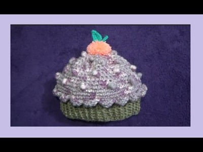Gorro Cupcake o Panque para principiantes a Crochet