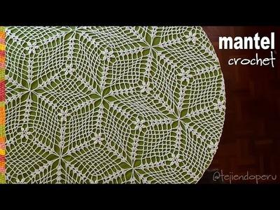 Mantel o tapete tejido a crochet - Tejiendo Perú
