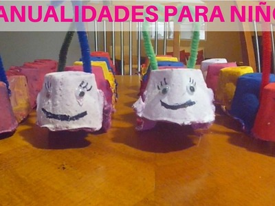Manualidades Para Niños (Caterpillar) Crafts For Kids