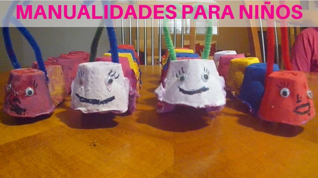 Manualidades Para Niños (Caterpillar) Crafts For Kids