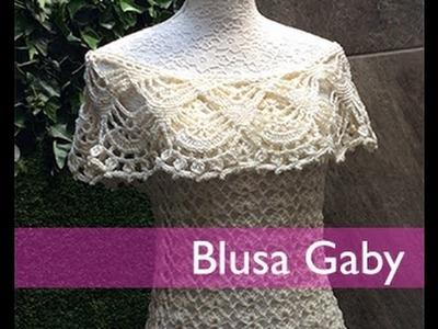 TEJE BLUSA GABY - Crochet Fácil y Rápido - Para Primavera Verano