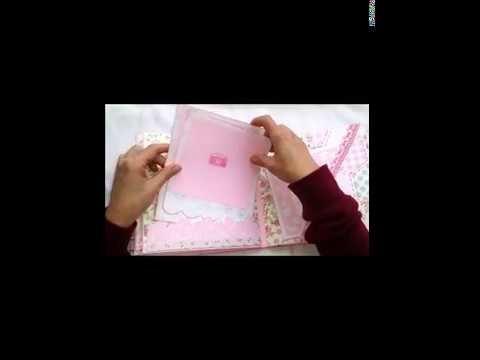 Albúm bebe niña DIY SCRAPBOOK