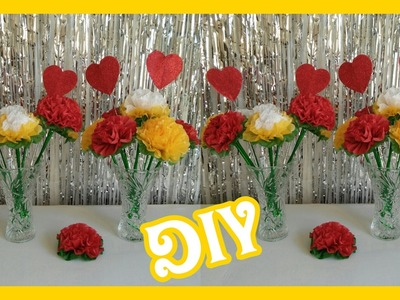 DIY Flor de Papel China. DIY Tissue Paper Flowers Tutorial