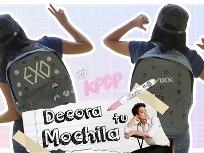 DIY K-POP : Decora tu mochila para el regreso a clases con EXO.SEVENTEEN.TWICE.VIXX.GOT7.BTS