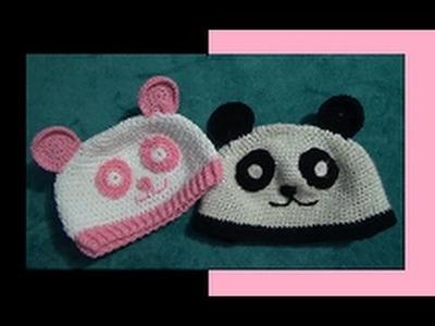Gorro de Panda a Crochet