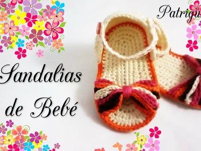 Sandalias para bebé de 0 a 3 meses!! Crochet