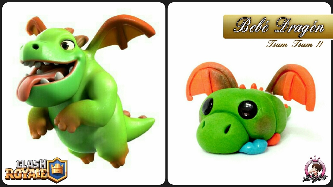 CLASH ROYALE | Baby Dragon | Polymer Clay Tutorial