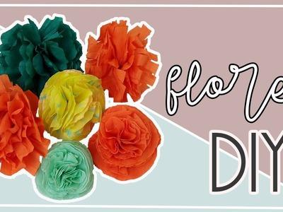 Como hacer flores de papel crepe faciles y bonitas. Manualidad para todas las edades