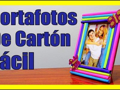 COMO HACER PORTAFOTOS DE CARTON FACILES Crea Tu Portaretratos Manualidades Con Carton