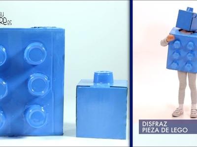 DISFRAZ CASERO PIEZA DE LEGO EN UN MINUTO. DIY. SOYTUPADRE.ES
