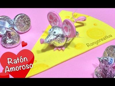 Ratón de kisses. regalo para mi novio. Manualidades fáciles - Ronycreativa Manualidades