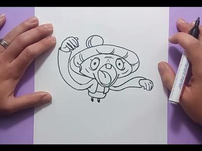 Como dibujar a Cotilleja paso a paso - Yo Kai Watch | How to draw Tattletell - Yo Kai Watch