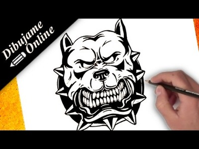 Como dibujar un pitbull | como dibujar un pitbull paso a paso