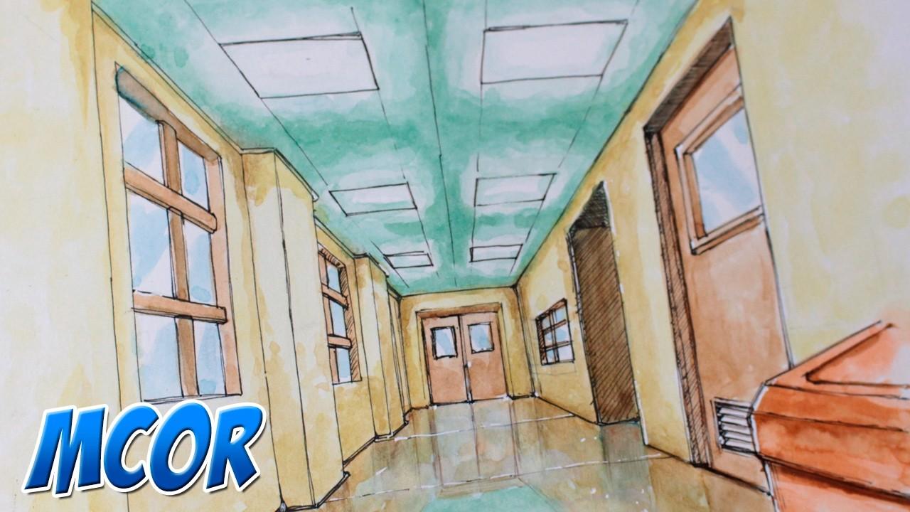 Como Dibujar una Sala de Escuela Anime. Manga