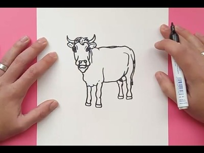 Como dibujar una vaca paso a paso 7 | How to draw a cow 7