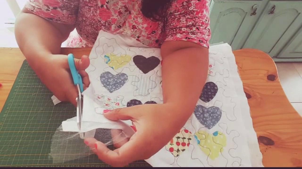 D.I.Y San Valentín funda de almohadón de corazones, aplique facil y rápido. Easy & Fast Pillow Case
